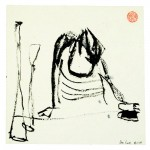Ink drawing,size 16,5 x 16,5cm,Place/Year:China/05-09