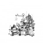 Maria Persson (SE) Your Town, A4 - Ink - 2014 Black & White