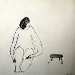 Ink drawing,size 30x30 cm,Place/Year:China/05-09