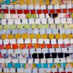 5.Fra serien Dekonstruksjon  og transformering. 73x50cm.Vevt maleri. 2011