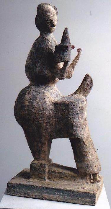 Für die Hand. 2007. Keramik. Höhe 56cm