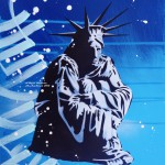 Bryce C Huddled Masses_spray paint and acrylic_11x14in_2015_Bryce Chisholm