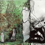 Galleri Heike Arndt DK Berlin - Artist: Birthe Petersen, title: Kvinde liv 7, 15x16,5cm