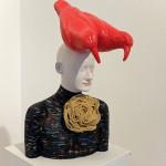 "Galleri Heike Arndt DK Berlin - Artist: Ivan Prieto, Title: ""Vogel im Kopf."", 75x33cm"