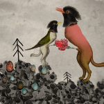 "Galleri Heike Arndt DK Berlin - Artist: Grycja, title: ""The love"", 50x50cm"