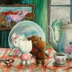 """Galleri Heike Arndt DK Berlin - Artist: Jens Hunger, title: """"Together"""", 40x50cm"""