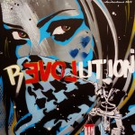 Bryce C Love Revolution_spray paint and acrylic_16x20in_2015_Bryce Chisholm